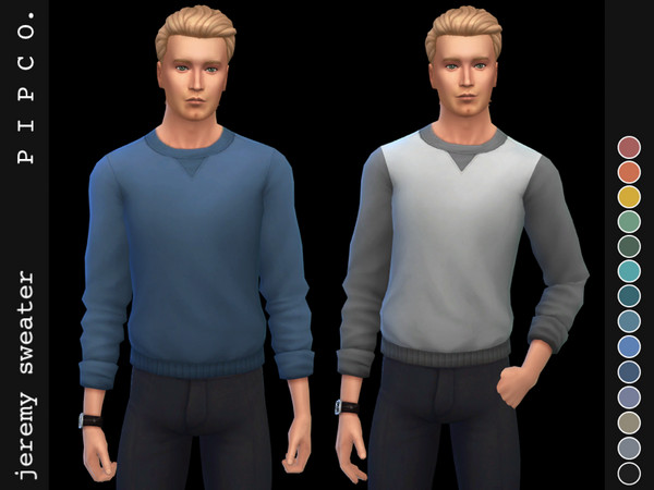 Sims 4 Jeremy sweater by Pipco at TSR