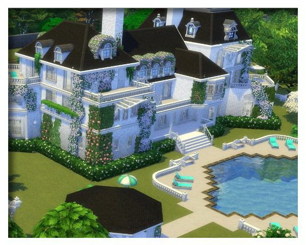 Sims 4 White Lady mansion by Oldbox at All 4 Sims