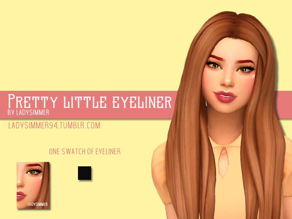Sims 4 Pretty Little Eyeliner by LadySimmer94 at TSR