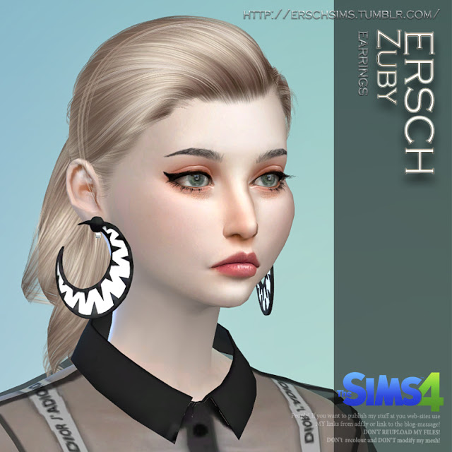 Zuby Earrings at ErSch Sims image 8817 Sims 4 Updates