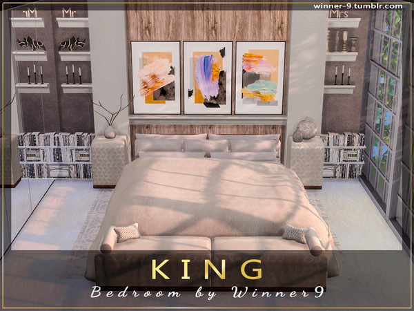 KING Bedroom by Winner9 at TSR image 882 Sims 4 Updates
