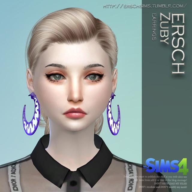 Zuby Earrings at ErSch Sims image 8919 Sims 4 Updates