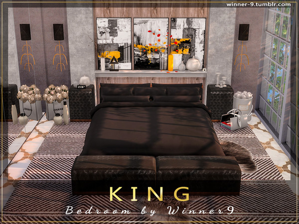 KING Bedroom by Winner9 at TSR image 892 Sims 4 Updates