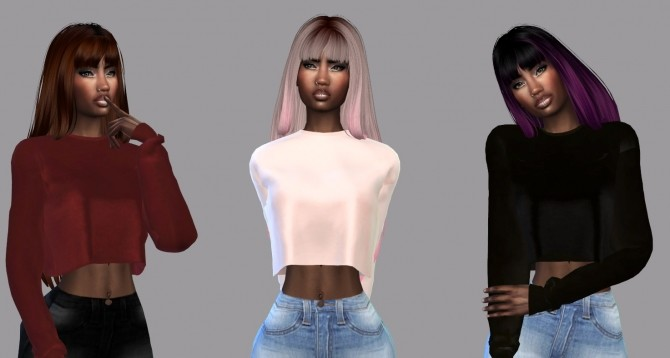 Sims 4 Cornelia Hair Recolor at Teenageeaglerunner