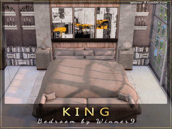 KING Bedroom by Winner9 at TSR image 902 Sims 4 Updates
