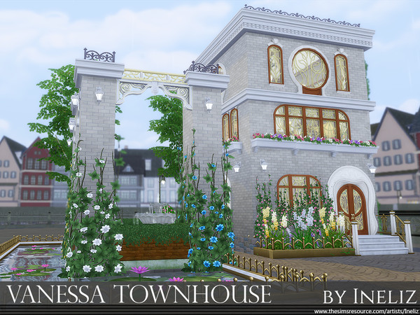 Sims 4 Vanessa Townhouse by Ineliz at TSR