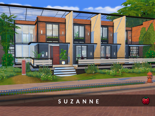 Suzanne two storey house by melapples at TSR image 9100 Sims 4 Updates