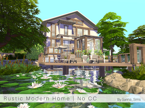 Rustic Modern Home by Sarina Sims at TSR image 9101 Sims 4 Updates