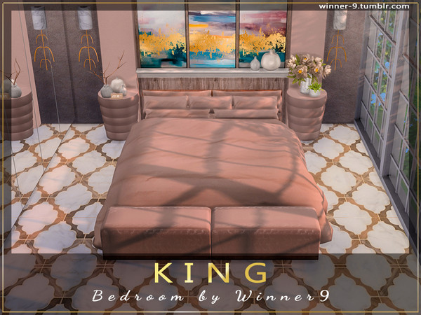 KING Bedroom by Winner9 at TSR image 913 Sims 4 Updates