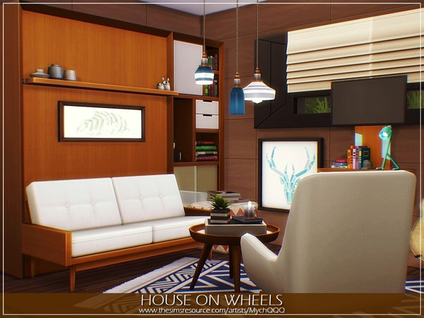 Sims 4 House On Wheels by MychQQQ at TSR