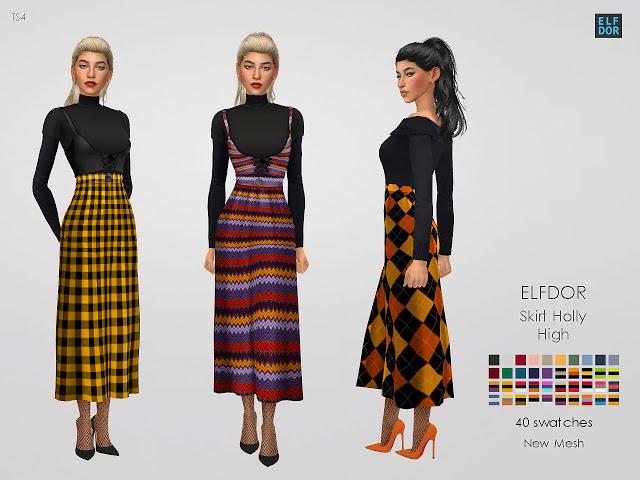 Sims 4 Holly Skirt High at Elfdor Sims