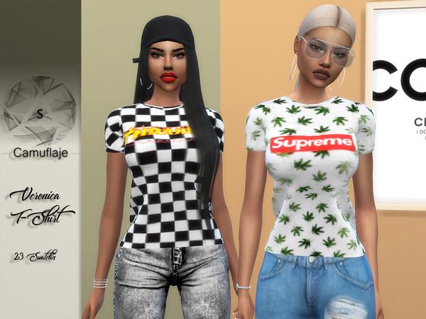 Sims 4 Veronica T Shirt by Camuflaje at TSR