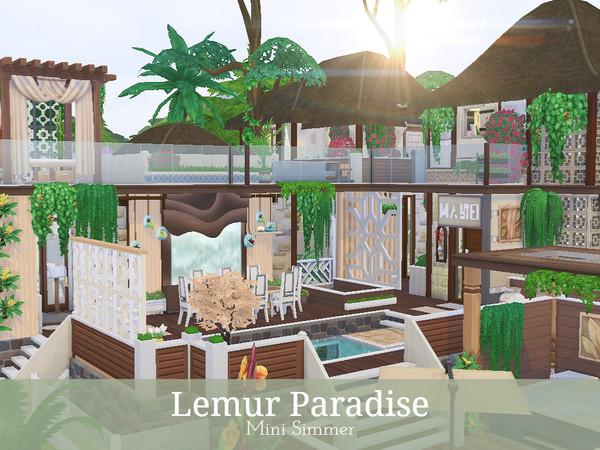 Sims 4 Lemur Paradise jungle home by Mini Simmer at TSR