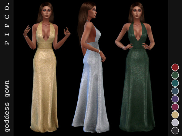 Sims 4 Goddess gown by Pipco at TSR
