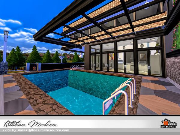 Sims 4 Kittikun Modern house by autaki at TSR