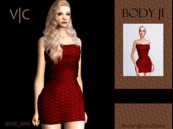 Sims 4 DRESS JI V C by Viy Sims at TSR