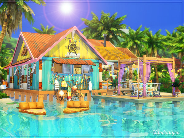 Sims 4 Sea Breeze Restaurant by Xandralynn at TSR