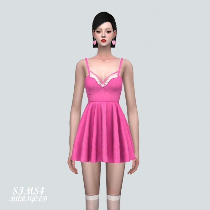 Bustier Lace Flare Mini Dress at Marigold image 10114 670x670 Sims 4 Updates