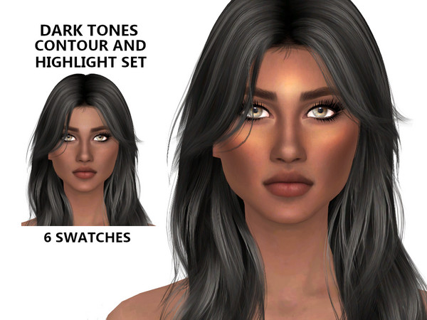 Sims 4 Dark Contour and Highlight Set by Tigerlilly at TSR
