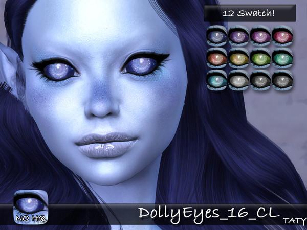 Sims 4 Dolly Eyes 16 CL by tatygagg at TSR