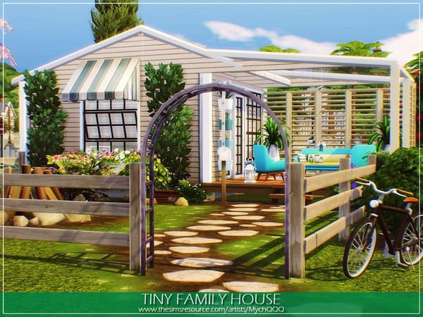 Tiny Family House by MychQQQ at TSR image 1036 Sims 4 Updates