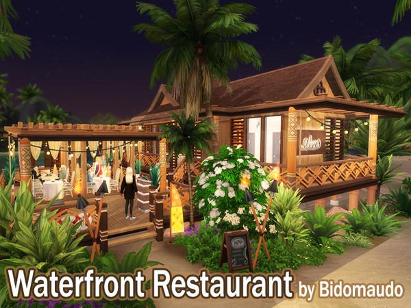 Waterfront Restaurant by Bidomaudo at TSR image 1037 Sims 4 Updates