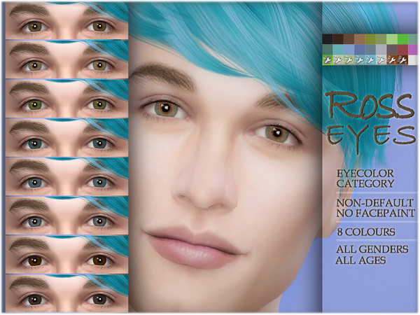 Sims 4 Ross eyes NON DEFAULT by BAkalia at TSR