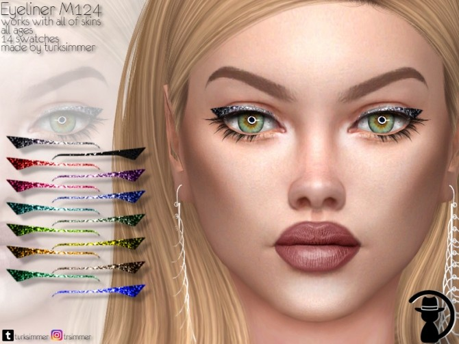 Sims 4 Eyeliner M124 by turksimmer at TSR