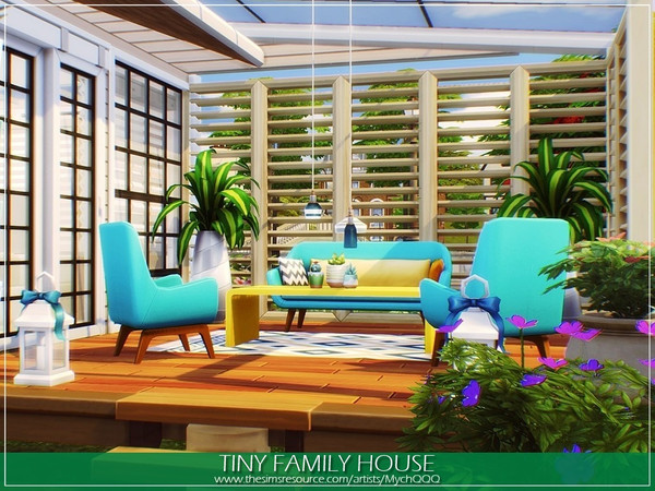 Sims 4 Tiny Family House by MychQQQ at TSR