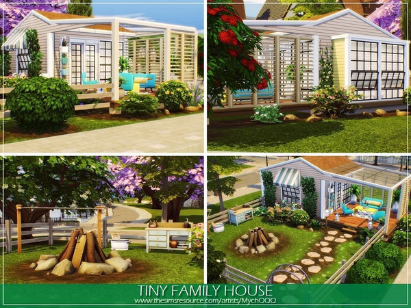 Tiny Family House by MychQQQ at TSR image 1058 Sims 4 Updates