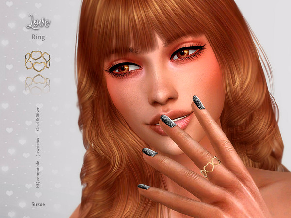 Sims 4 Love Ring by Suzue at TSR