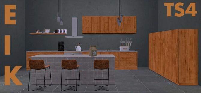 Sims 4 Recolors of sanoysims Eik Kitchen at Riekus13