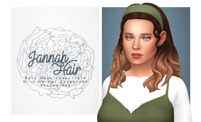 Sims 4 Jannah Hair at Isjao