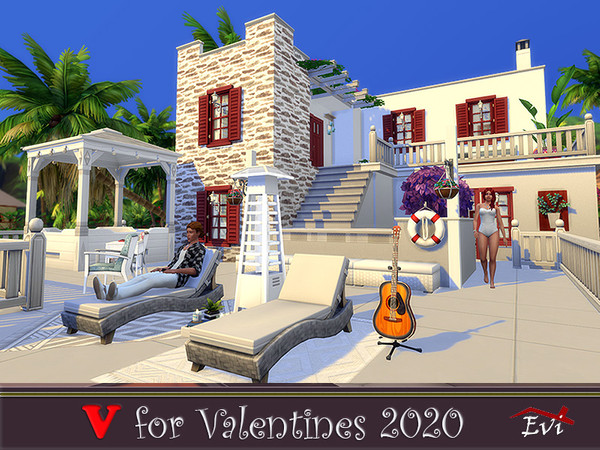 V for Valentines 2020 one bedroom beach house by evi at TSR image 1077 Sims 4 Updates