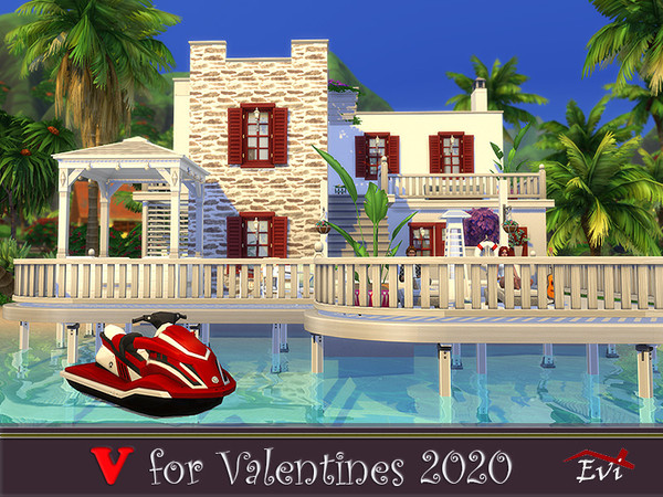 V for Valentines 2020 one bedroom beach house by evi at TSR image 1089 Sims 4 Updates