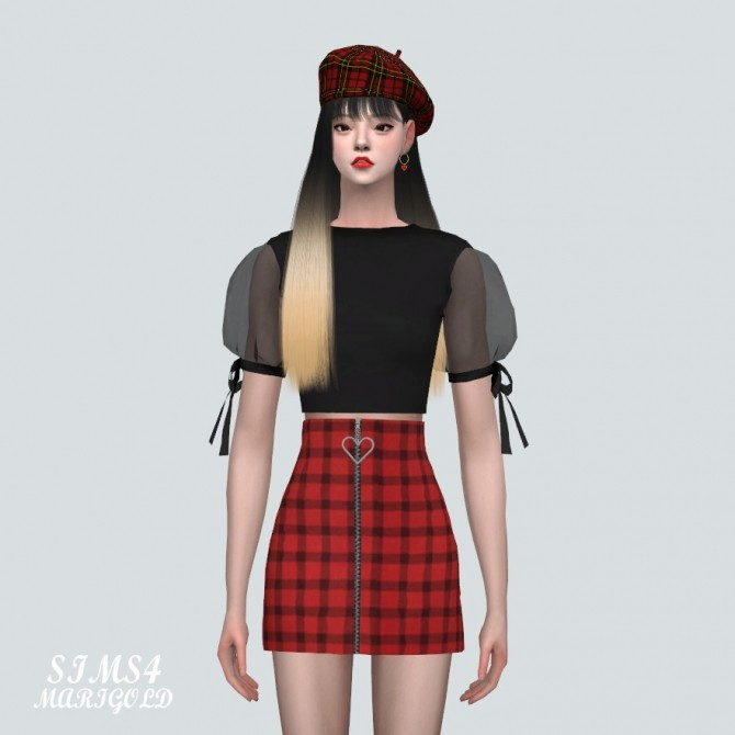 See through Puff Sleeves Crop Top at Marigold image 10916 670x670 Sims 4 Updates