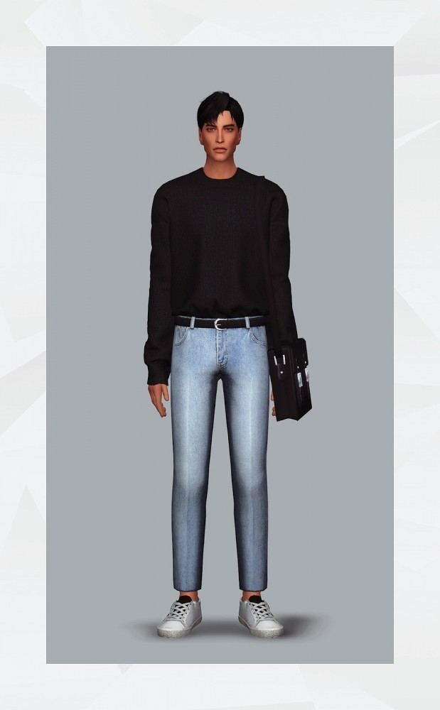 Belted Jeans at Gorilla image 1097 619x1000 Sims 4 Updates