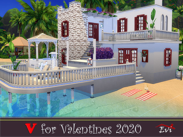 V for Valentines 2020 one bedroom beach house by evi at TSR image 1099 Sims 4 Updates