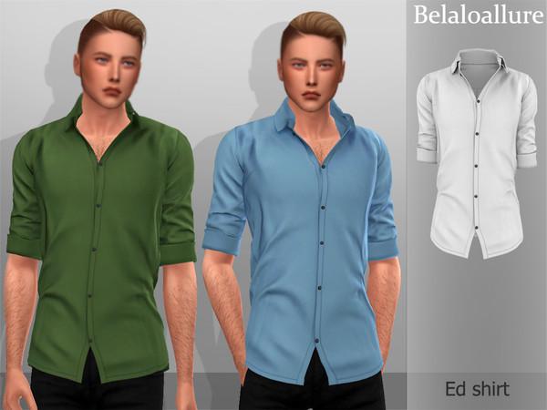 Sims 4 Belaloallure Ed shirt by belal1997 at TSR
