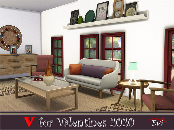 V for Valentines 2020 one bedroom beach house by evi at TSR image 11012 Sims 4 Updates