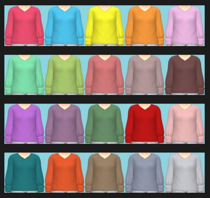 Sims 4 Tiny Living Shirt Recolors at Annett's Sims 4 Welt
