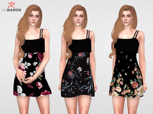 Floral Dress for Women 07 by remaron at TSR image 11100 Sims 4 Updates