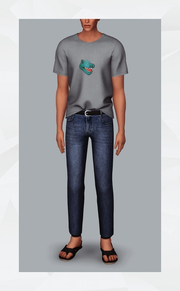 Belted Jeans at Gorilla image 11111 619x1000 Sims 4 Updates