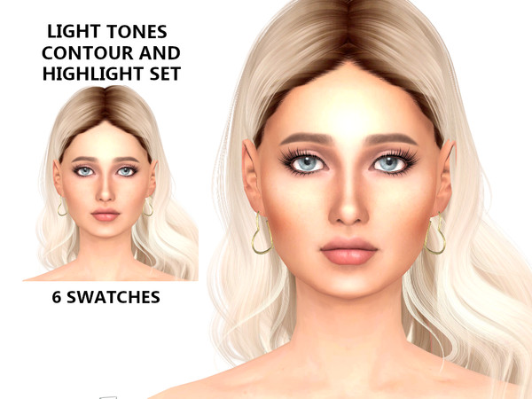 Sims 4 Light Contour and Highlight Set by Tigerlilly at TSR