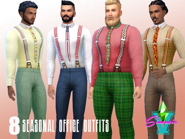 Seasonal Office Set by SimmieV at TSR image 1127 Sims 4 Updates