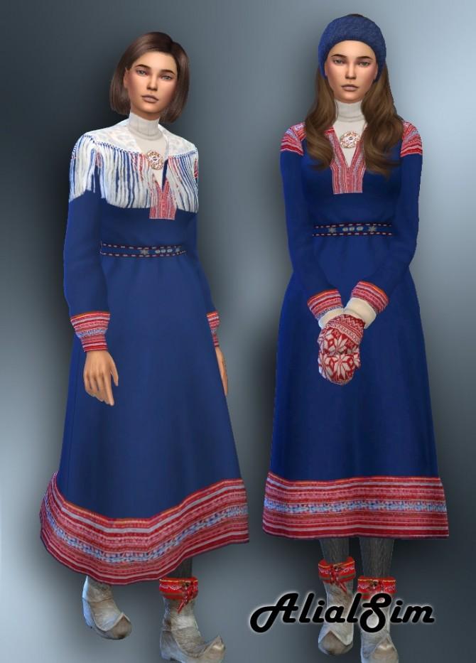Sims 4 Sami Dress at Alial Sim