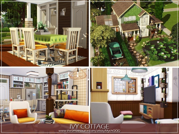 Sims 4 Ivy Cottage by MychQQQ at TSR