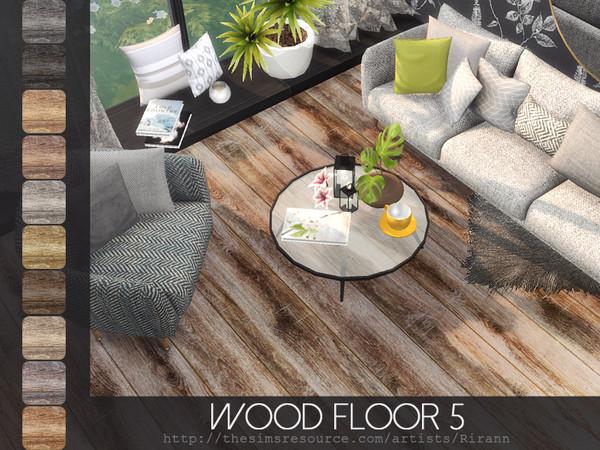 Sims 4 Wood Floor 5 by Rirann at TSR