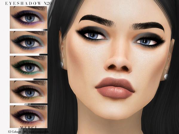 Sims 4 Eyeshadow N20 by Merci at TSR