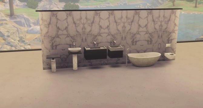 THE BAFROOM 94 piece collaborative set at Harrie image 1173 670x357 Sims 4 Updates